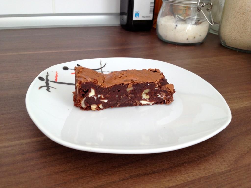 Triple-Chocolate-Brownie (dreimal zu groß)